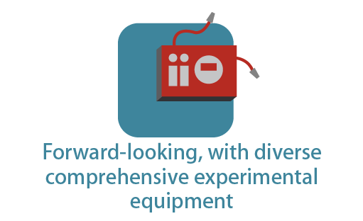 Forward-looking, with diverse comprehensive experimental equipment